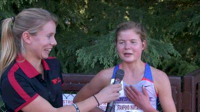 Allie Ostrander after first ever steeplechase runs sub 10
