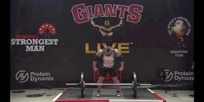 Eddie The Beast Hall World Record Axle Press 216kg/476lb
