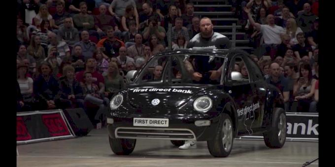 Hafthor Bjornsson vs Eddie Hall: Car Walk