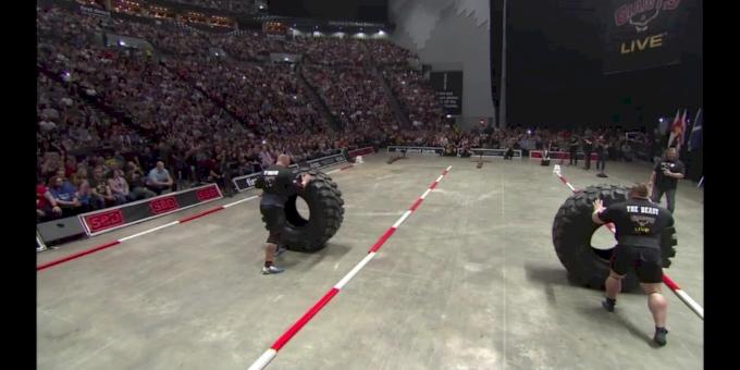 Hafthor Bjornsson vs Eddie Hall Tyre Flip