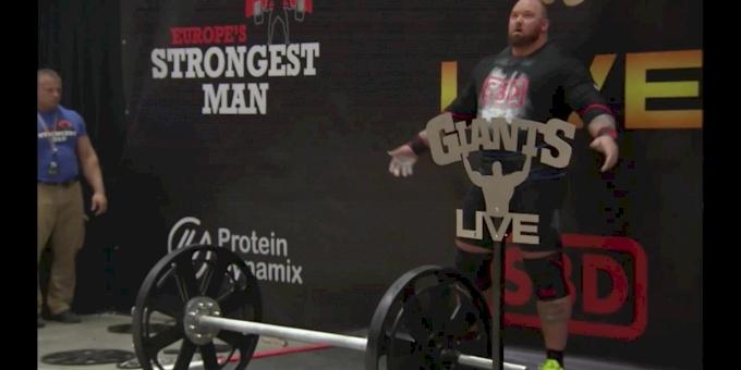 Hafthor Bjornsson Wins Europe's Strongest Man