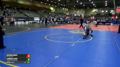 145 Finals - Braydon Huber, Team Real Life vs Lawrence Saenz, Vacaville Wrestling Club