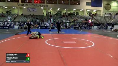 145 7th Place - William Kloster, Tulare Wolf Pack vs Wiilliam Jantzer, Team Bucs