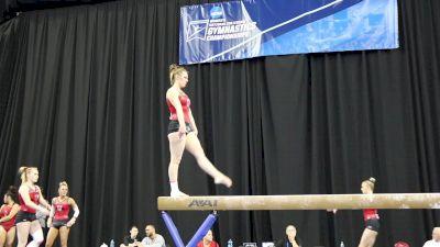Baely Rowe Rocks Beam Skills (Utah) - 2017 NCAA Championships Training