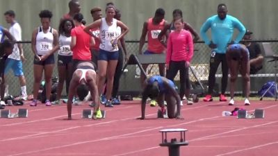 Pro Women's 100m, Heat 2 - Tori Bowie runs wind aided 10.80