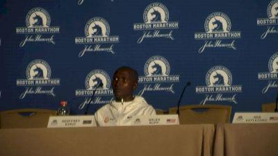 Geoffrey Kirui after winning the 2017 Boston Marathon