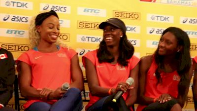 Natasha Hastings, Ashley Spencer on why they wear make up for track meets