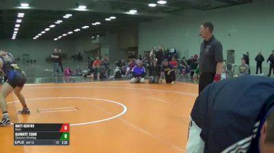 C-200 7th Place - Matt Gentry, Unatt. vs Garrett Cook, Gladiators Wrestling