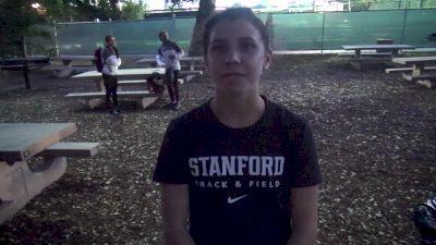 Stanford's Christina Aragon still does gymnastics 3 times a week
