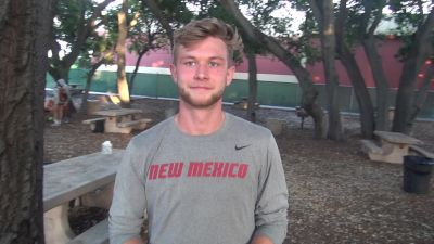 New Mexico's Josh Kerr after pacing the 1500 and what he did the week after his 335