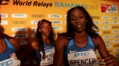 Team USA women run fastest 4x4 in prelims