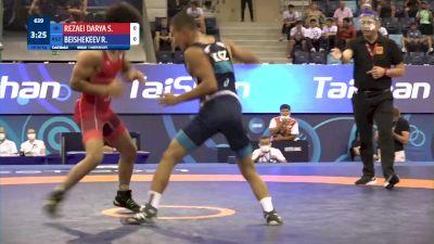 60 kg Final 1-2 - Seyyedmostafa Seyyedjafar Rezaeidaryakenari, Iran vs Razzak Beishekeev, Kyrgyzstan