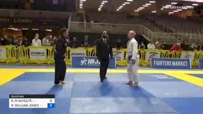 BRAD M SCHULTE vs RICHARD WILLIAM JONES 2020 World Master IBJJF Jiu-Jitsu Championship