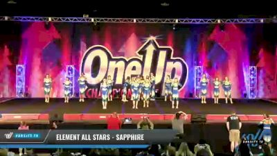 Element All Stars - Sapphire [2021 L4 Senior Coed - D2 - Small Day 2] 2021 One Up National Championship