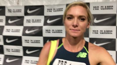 Emma Coburn ran a solo race, finishes just 0.3s off American record
