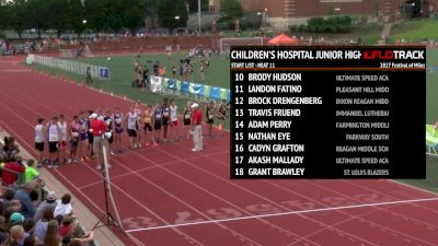 Children's Hospital Junior High Invitational Boy's Mile
