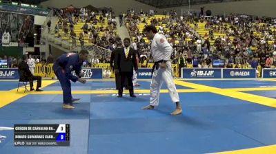 Gregor De Carvalho Rangel Gracie vs Renato Guimaraes Cardoso IBJJF 2017 World Championships