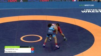 57kg Round 2: Thomas Gilman, Titan Mercury vs Tony Ramos, Sunkist Kids