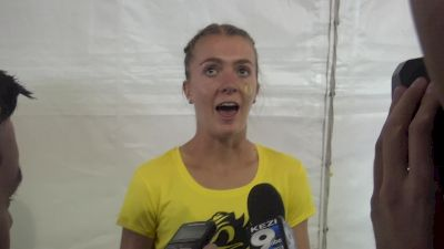 Katie Rainsberger after wild 1500m final