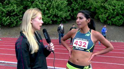 Brenda Martinez live interview after winning the 1500