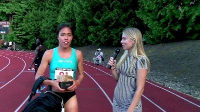 Maria Bernard live interview after winning the steeple