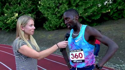 Stanley Kebenei live interview after winning the steeple