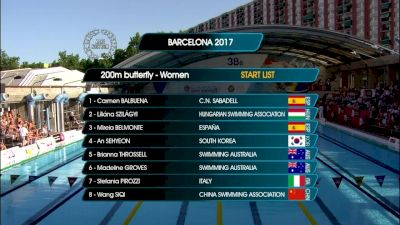 Barcelona Women's 200m Fly Final