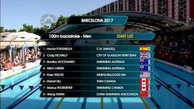 Barcelona Men's 100m Back Final