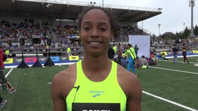 Bailey Lear after winning the Brooks PR 400