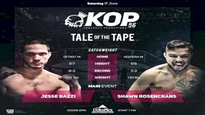 Jesse Bazzi vs. Shawn Rosencrans - KOP 56 Replay-