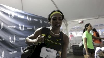 Raevyn Rogers felt really really good in that 800m semifinal