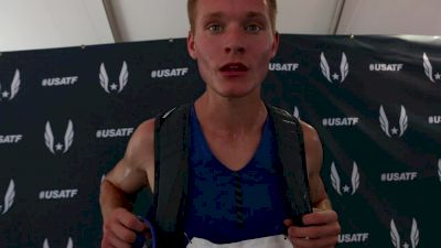 Drew Hunter was happy to make the final, wanted a faster pace