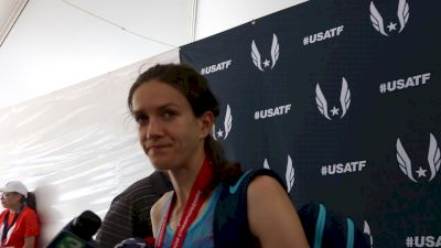 800m Olympian Kate Grace discovers that Jenny Simpson has a kick of her own