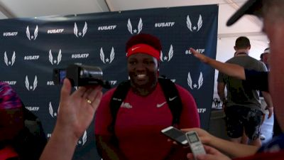 Raven Saunders is going to worlds after winning shot put