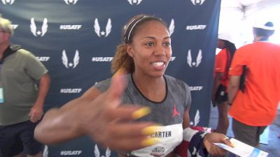 Kori Carter happy to be back on the world team