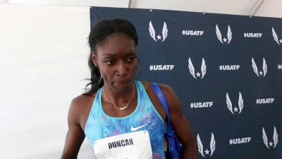 Kimberlyn Duncan has moved back to Louisiana to train with Dennis Shaver, LSU women