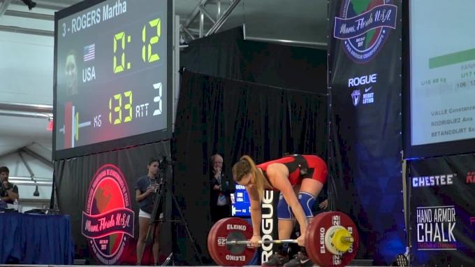 Mattie Rogers 133kg Clean & Jerk at Pan Ams