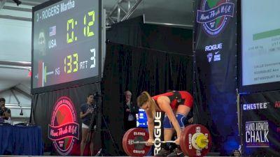 Mattie Rogers 133kg Clean & Jerk at 2017 Pan Ams