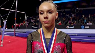 Maile O'Keefe On Her Beam Bite, Upgrades, And Competing In The Senior Session - 2017 U.S. Classic