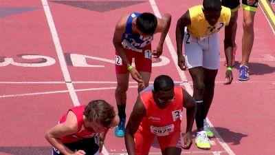 Boy's 800m, Heat 7 - Age 15-16: Brandon Miller falls, still runs 1:55