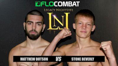 Stone Beverly vs. Matthew Dotson VFW Fights