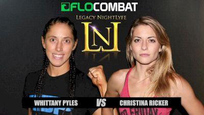 Whittany Pyles vs. Christina Ricker VFW Fight Nights