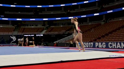 Jade Carey FLIES In Floor Tumbling - 2017 P&G Championships Podium Training
