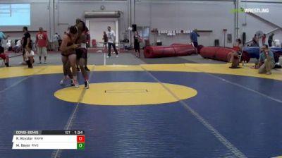 145 Consi-Semis - Rhise Royster, Rahway NJ vs Matt Beyer, River Vale NJ