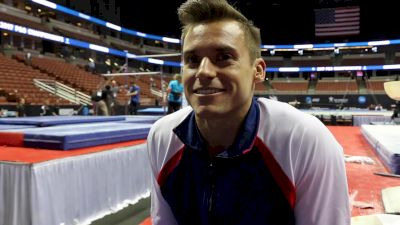 Sam Mikulak On New House In CO & Worlds Goals - 2017 P&G Championships Men Day 2