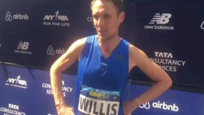 4x 5th Ave Mile champ Nick Willis says the finish line is always farther away than you think