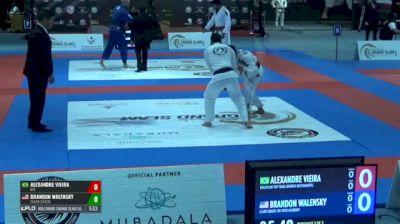 ALEXANDRE VIEIRA vs BRANDON WALENSKY Abu Dhabi Grand Slam Los Angeles