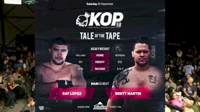 Ray Lopez vs. Brett Martin - KOP 58 Replay