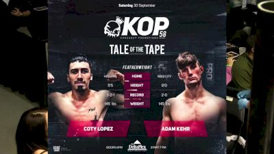 Coty Lopez vs. Adam Kehr - KOP 58 Replay