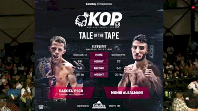 Dakota Esch vs. Munib Alsalmani - KOP 58 Replay